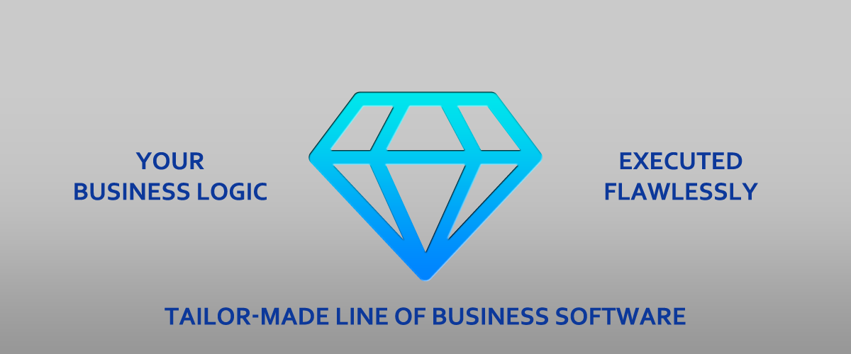 Your business logic, executed flawlessly - tailor made life of business software.